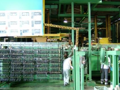 静止亜鉛鉄合金メッキ装置(キャリアー型)